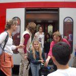 Ausstieg aus dem Zug